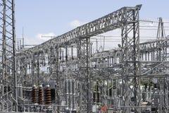 Sous-station de l'électricité Photos stock