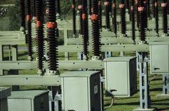 Sous-station de transformation d'énergie électrique Photographie stock libre de droits
