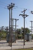 sous-station rurale de courant électrique Photos stock