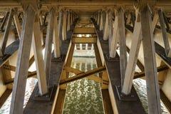 Sous un pont Photos libres de droits