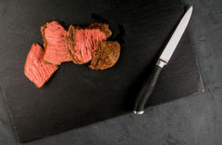 Sous-vide beef steak Royalty Free Stock Images