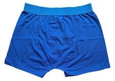 Sous-vêtements masculins - bleu Photographie stock libre de droits