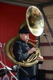 Sousaphone player Royalty Free Stock Photos