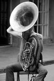 Sousaphone. Street musician in New Orleans Stock Photos
