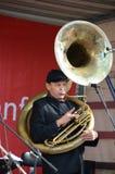 Sousaphonespieler Lizenzfreies Stockbild