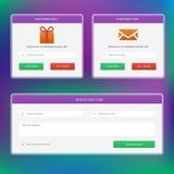 Souscrivez la forme de Web de message d'amd de formes Photographie stock