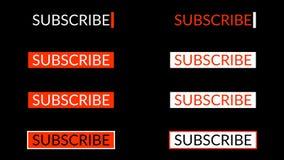 Souscrivez le bouton Alpha Channel 4K clips vidéos