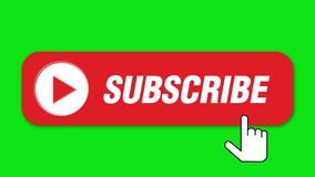 Souscrivez le bouton sur le fond vert illustration libre de droits