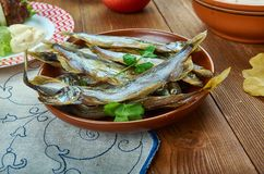 Dutch Soused herring royalty free stock photography