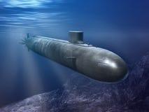 Sousmarin nucléaire Images libres de droits