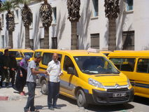 SOUSSE - MAY 10, 2013: parking lot of public bus Stock Photography