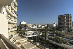 Sousse in Tunisia. The view from the window of the hotel room Royalty Free Stock Photography
