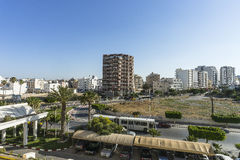 Sousse in Tunisia. The view from the window of the hotel room Stock Images