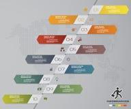 Soustrayez 10 infographis d'étapes avec des éléments de forme de flèche Illustration de vecteur Photo stock