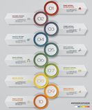 Soustrayez 10 infographis d'étapes avec des éléments de forme de flèche Illustration de vecteur Images stock