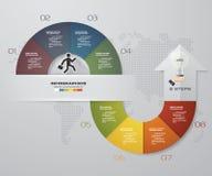 Soustrayez 8 infographis d'étapes avec des éléments de forme de flèche Illustration de vecteur Image libre de droits