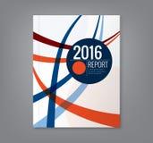 Soustrayez la ligne incurvée fond de conception pour le rapport annuel d'affaires illustration stock