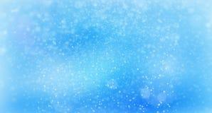 Soustrayez la neige atmosphérique en baisse dans la nuit foncée, le fond abstrait généré par ordinateur, 3D rendent illustration stock