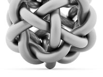 Soustrayez la sphère incurvée du renderd de tube sur le fond blanc Image libre de droits