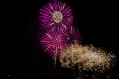 Soustrayez le fond coloré de feu d'artifice avec l'espace libre pour le texte Images libres de droits