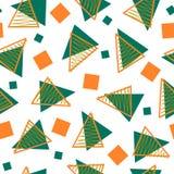 Soustrayez le modèle de style de Memphis de trois couleurs illustration de vecteur
