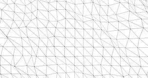Soustrayez le modèle lentement en mouvement des lignes noires minces banque de vidéos