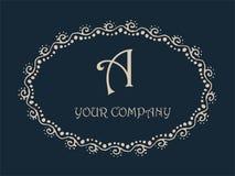 Soustrayez un monogramme Logo Design élégant de lettre Photo libre de droits