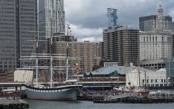 Free Sout Street Seaport View From The Water Royalty Free Stock Image - 108390086