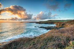 Looking out to Mount`s Bay in Cornwall Stock Photography