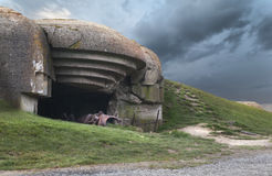 Soute allemande en Normandie images stock