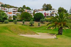 Soute dans le terrain de golf Photographie stock libre de droits