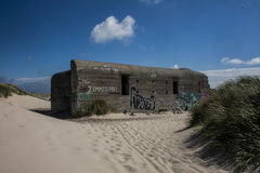 Soute de sable dans Skagen photographie stock libre de droits