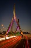 Soute de Zakim à Boston, le Massachusetts, Etats-Unis Photographie stock libre de droits
