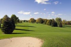 Soute et parcours ouvert de golf Photos stock