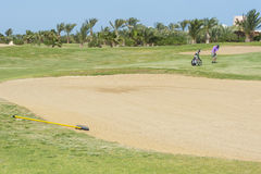Soute sur un terrain de golf Photo stock