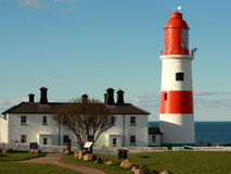 Souter latarnia morska w Południowych osłonach Zdjęcia Royalty Free