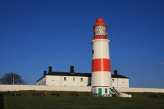 Souter Lighthouse with Green Door Stock Photography