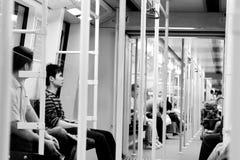 Souterrain dans Guangzhou, Chine Images libres de droits