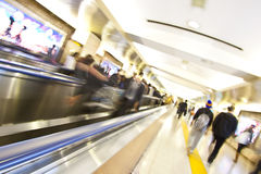 souterrain de gare de précipitation de mouvement d'heure Photos stock