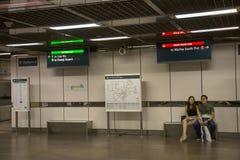 Souterrain de MRT de Singapour Photos libres de droits