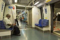 Souterrain de MRT de Singapour Photographie stock libre de droits