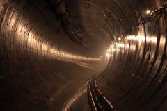 Souterrain en construction de tunnel Images stock