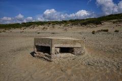 Soutes antinavire allemandes sur la plage de Nettuno Photographie stock