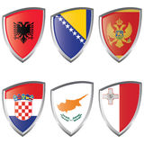 South 1 Europe Shield flag Royalty Free Stock Photography