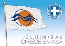 South Aegean regional flag, Greece Stock Photography