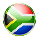 South Africa. Flag of South Africa on a white background. Vector Stock Photography