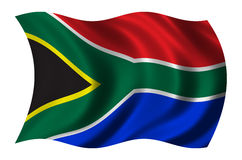 South Africa. Flag of South Africa waving in the wind - clipping path included stock illustration