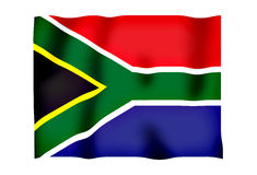 South Africa 2. Rippled image of the South African flag Stock Photography