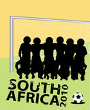 South Africa 2010. Vector illustration for fifa world cup Royalty Free Stock Photo