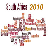 South Africa 2010. All the country teams competing in the South Africa 2010 world cup competition Stock Photo